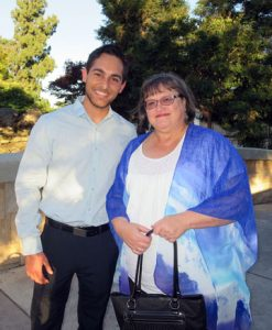 Michael Bernal, student composer and Louise Kantro, poet