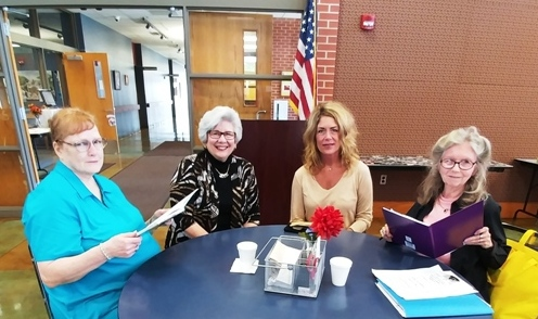 Pat Irish, Laura Walth, Beverly Boul and ______ at Northwest Senior Center in Des Moines, Iowa