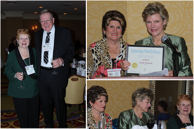 President Virginia Frankline Campbell and husband Verne; Outgoing President Candace Long with Guest Speaker Cokie Roberts; Candace, Cokie and Virginia
