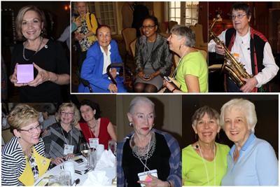 Top: Brenda Smith; Elaine Waidelich, ?Member, Sheila Byrnes; Judy Bingman. Bottom: Pensacola Branch members; JoAnn O'Keefe; Sheila Byrnes and Jane Maclean