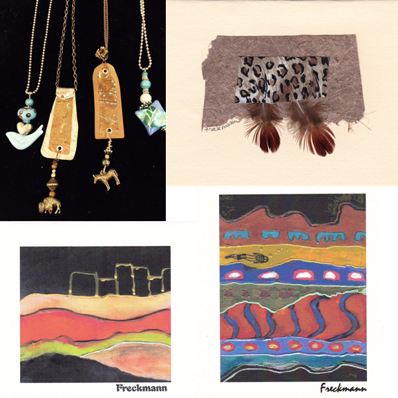 Art and jewelry designs by Donna Freckmann