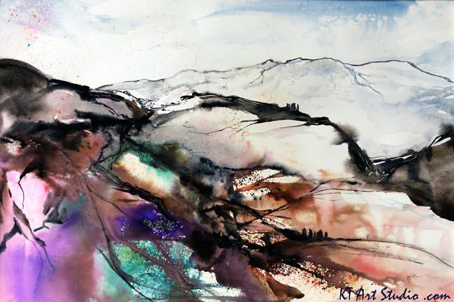 Confetti Mountain painting