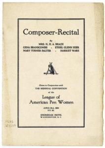 NLAPW Biennial recital cover