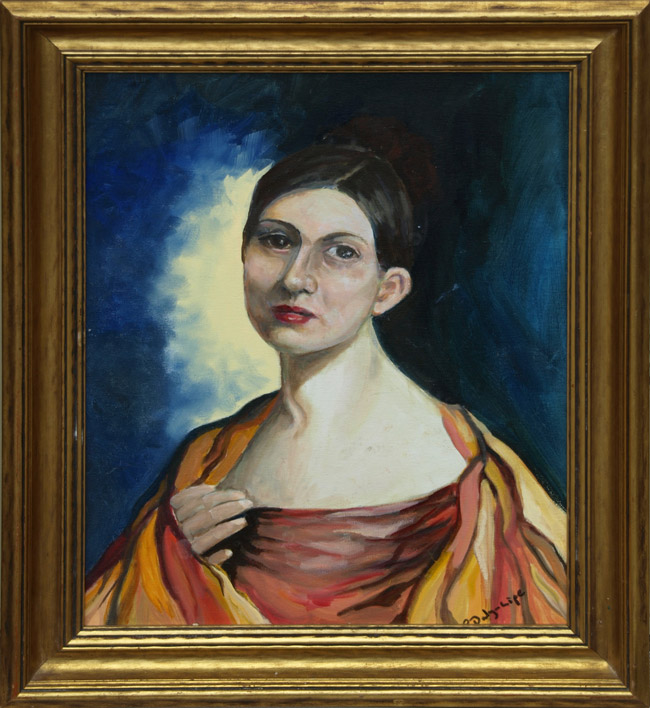 19th Century Lady painting