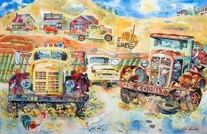 "Gloria Sampson's ""Vintage Trucks in Sedona"""
